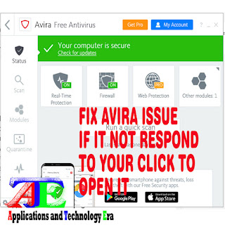 solve Avira anti-virus launching problem