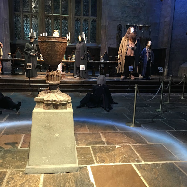 Goblet of Fire and costumes in Harry Potter Warner Brothers studios London