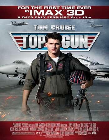 Poster Of Top Gun 1986 Dual Audio 720p BRRip [Hindi - English] ESubs Free Download Watch Online downloadhub.net