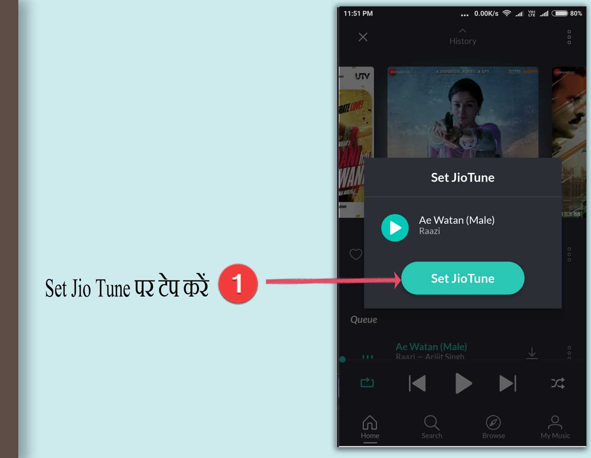 set jio hello tune