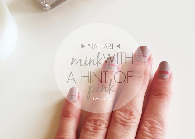 nail art mink hint of pink header