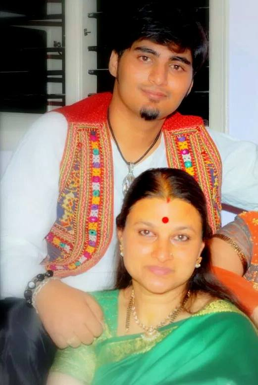 Niranjan Deshpande withhis mother