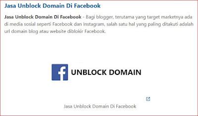 Cara Mengatasi Domain Blog Di Blokir Facebook