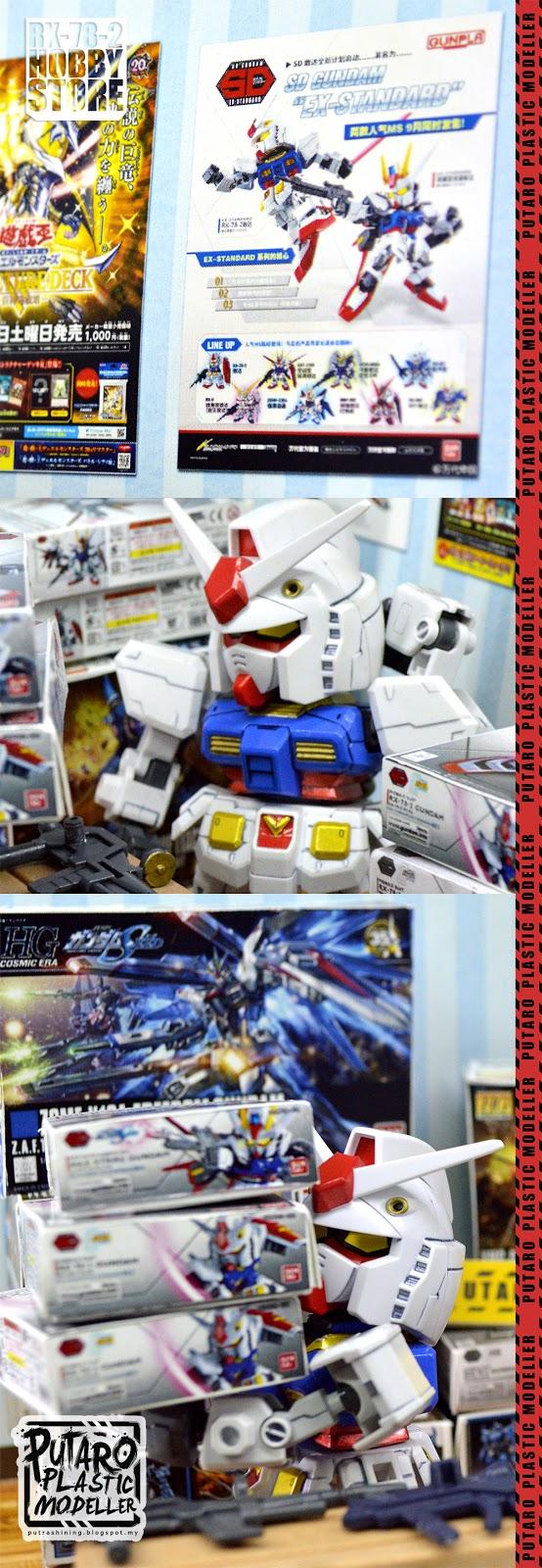 "SD Gundam EX-Standard RX-78-2 custom ""RX-78-2 Hobby Store"" by Putra Shining"