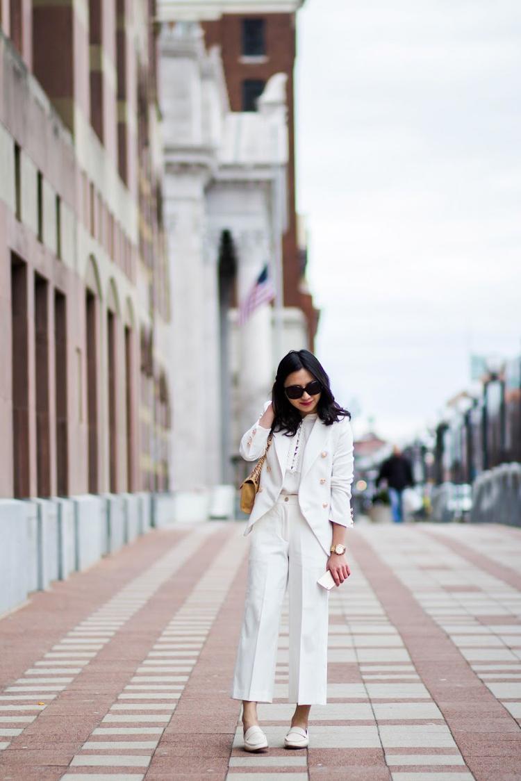 25e845c9064 White Pantsuit - Elle Blogs