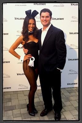 Raquel Pomplun at Jaguar Playboy Party