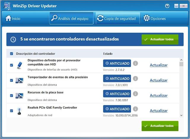 WinZip Driver Updater PC Full imagenes