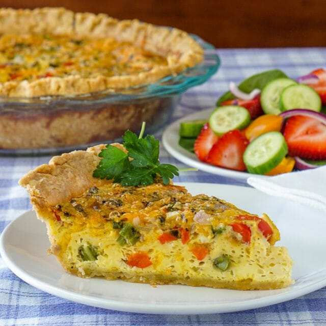 Grilled Vegetable Quiche