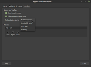 Mengatur Toolbar Interface di Linux Mint
