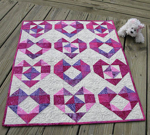 Heart Baby Quilt Free Tutorial