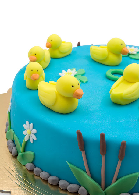 Duck fondant chocolate cake ducks on the cake