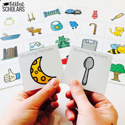 Mix up the way you assign partners in your class by using rhyming words! The student with the sheep card will work with the student with the jeep card and so on.