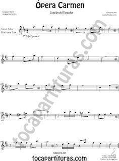 Saxofón Alto y Sax Barítono Partitura de Ópera Carmen de Georges Bizet Sheet Music for Alto and Baritone Saxophone Music Scores