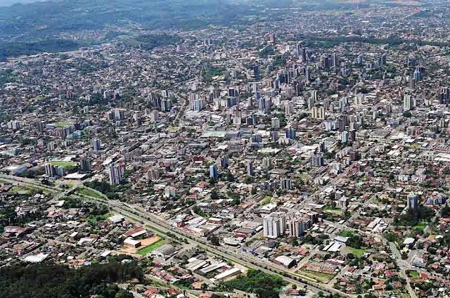 Imagem aérea de Novo Hamburgo