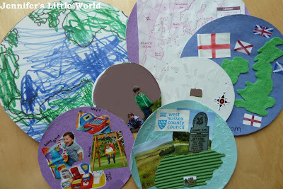 How to make a me on the map book craft with children