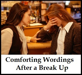 How to comfort a friend after a break up