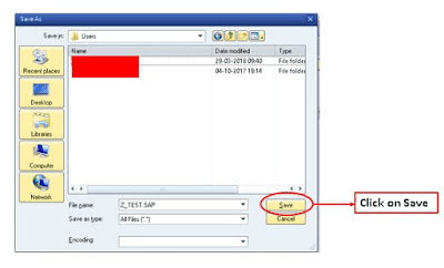role download upload in sap