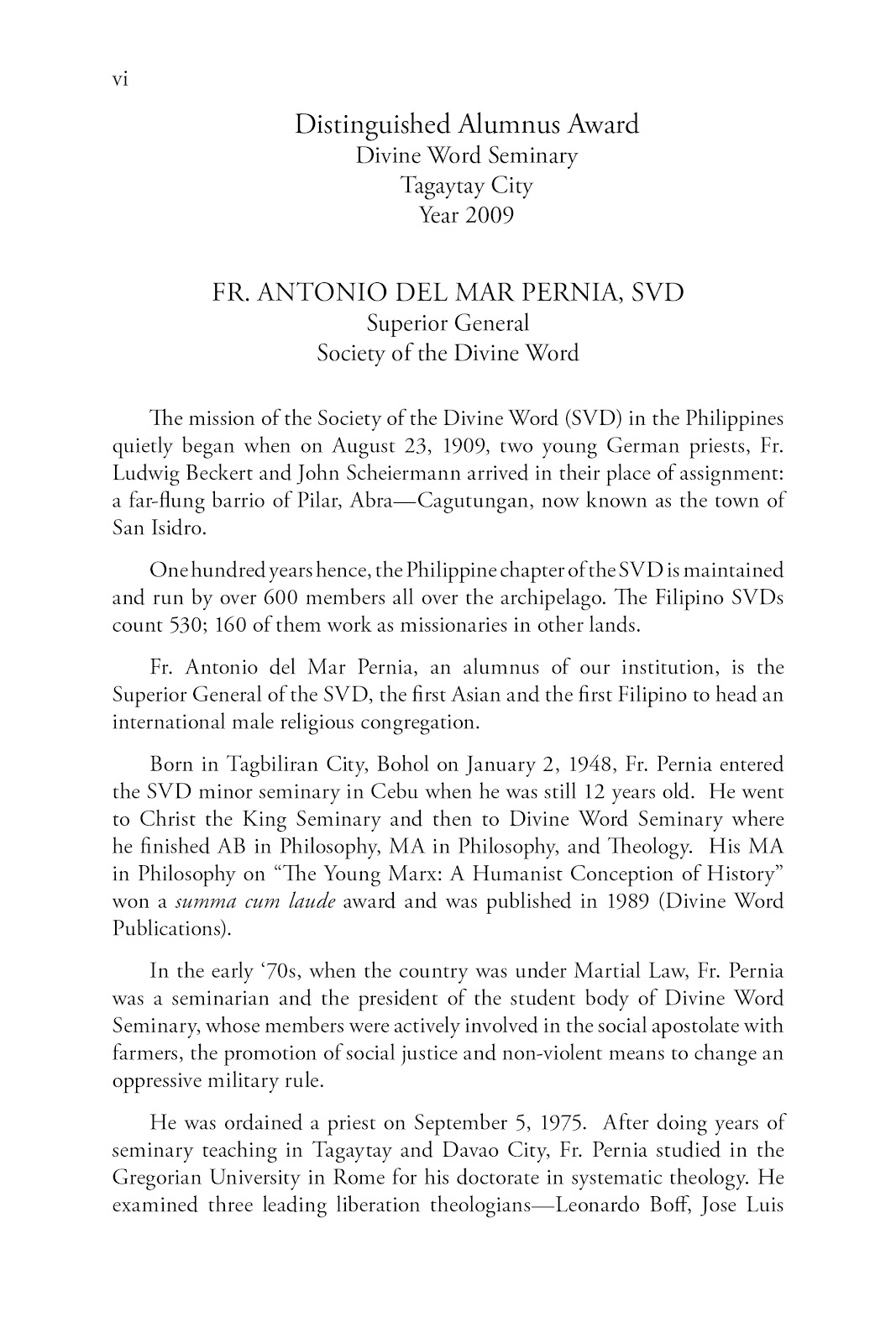 diwa studies in philosophy and theology diwa 35 is special issue dedicated to the 100 years of the philippine svd