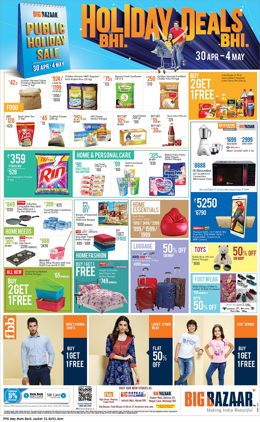 big bazaar s the public holiday sale 30 april 2016 to 4