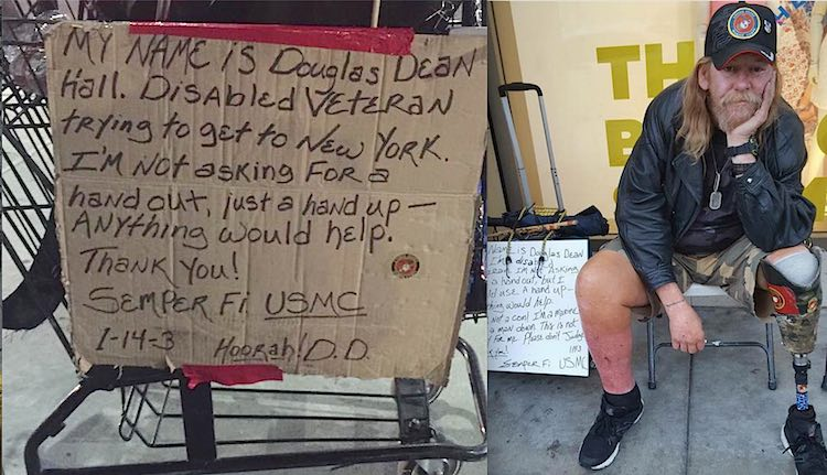 After She Watched A Homeless Man Collapse, You Won't Believe What She Did With His Cart