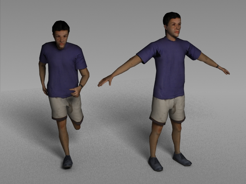 Jogger ~ 3d Male Character Models Free ~ Stock 3d Models