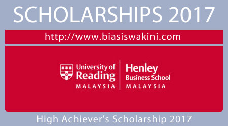 High Achiever's Scholarship Award 2017