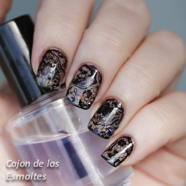 Uñas Decoradas Con Encaje Placas De Estampar De Born