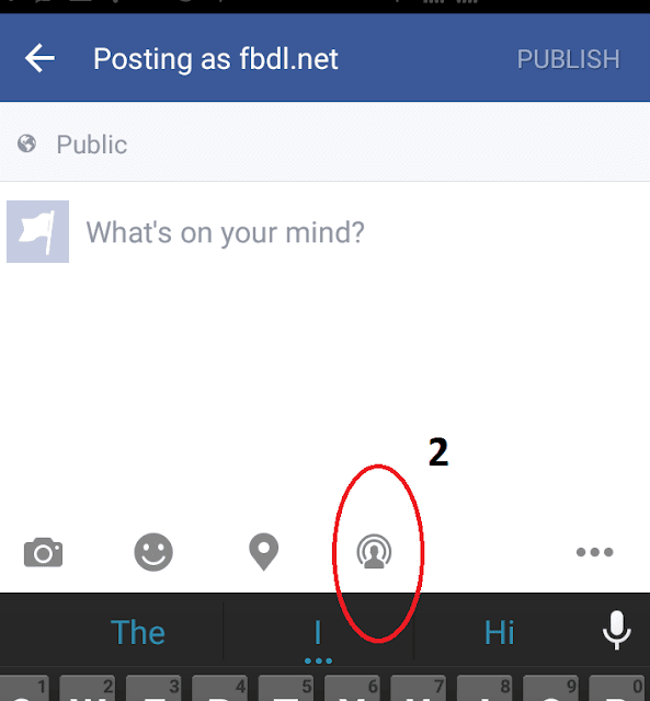 How To Live Stream On Facebook Mobile step 3