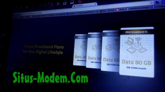 Paket Prioritas Broadband XL : Paket 4G XL Khusus Pengguna Jabodetabek