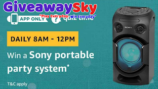 Amazon Today Quiz Answers Win a Sony Portable Party System