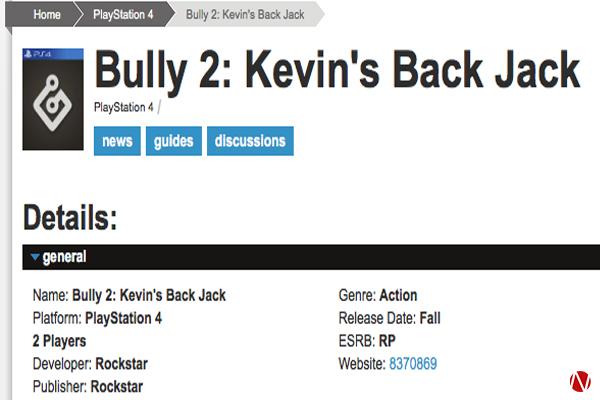 Game Informer Bully 2