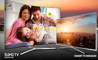 Logo Con Samsung TV SUHD un regalo sicuro: uno Smart TV 40''
