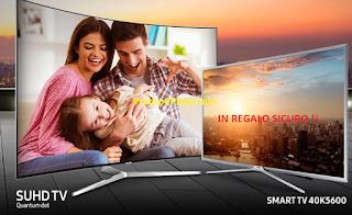 Logo Con Samsung TV SUHD un regalo sicuro: uno Smart TV 40''