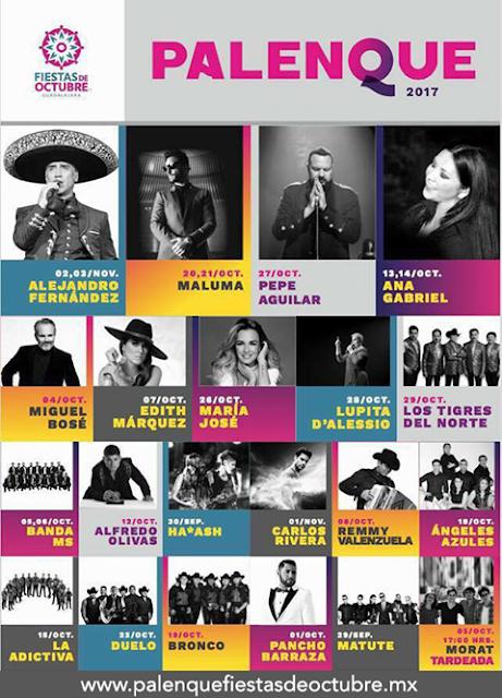 Boletos Palenque Fiestas de Octubre 2017