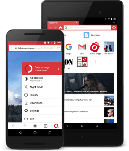 تحميل متصفح أوبرا ميني لفتح المواقع المحجوبة للأندرويد, Opera Mini for Android Download