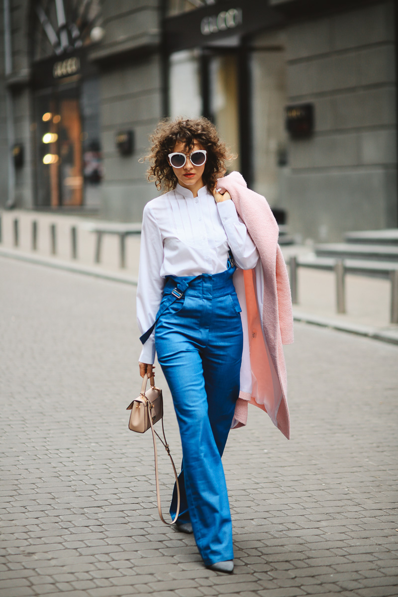 широкие джинсы с чем носить