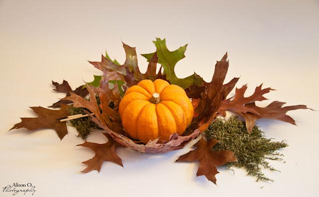 DIY Corbeille en feuilles d'arbre automne