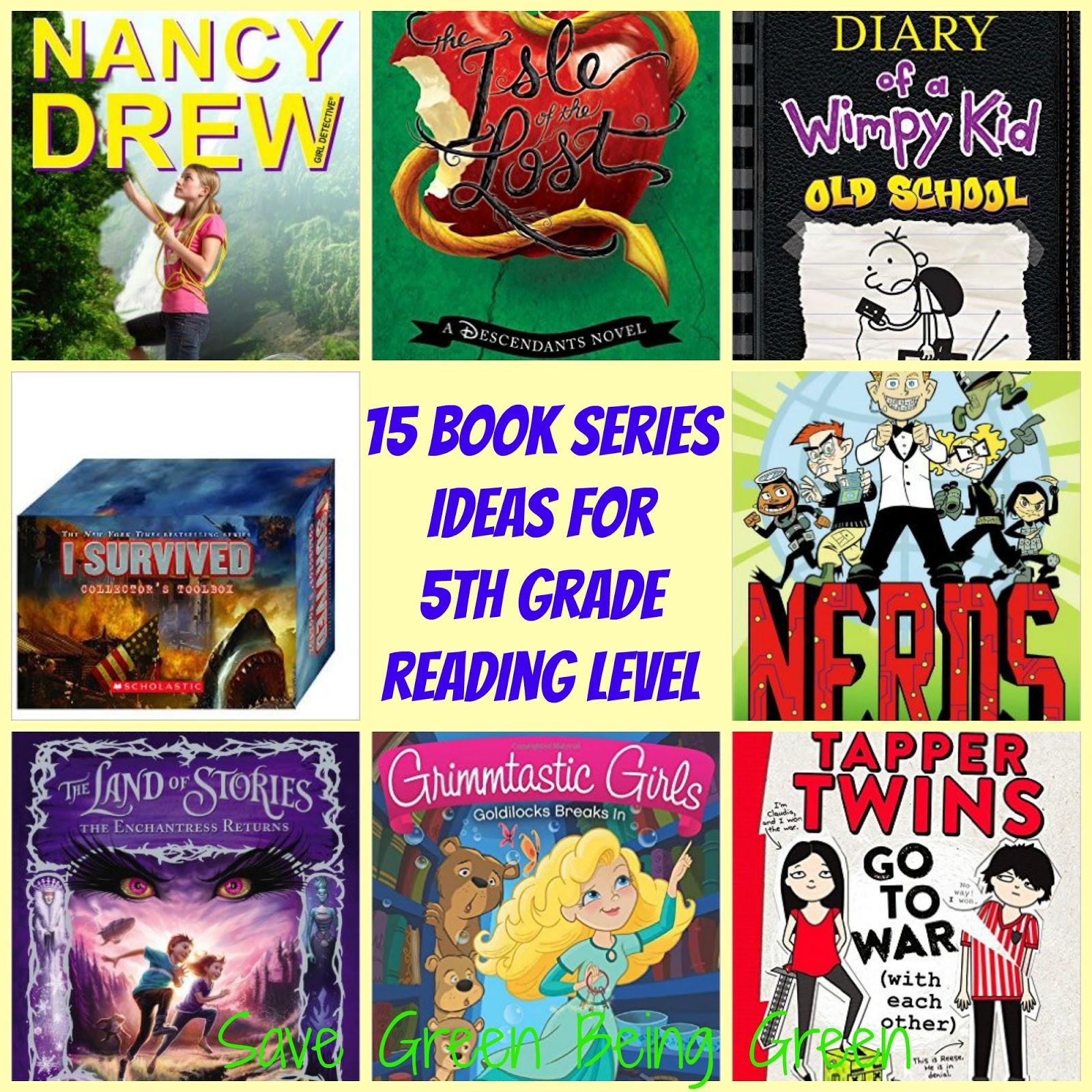 Save Green Being Green 15 Book Series Ideas For 5th Grade