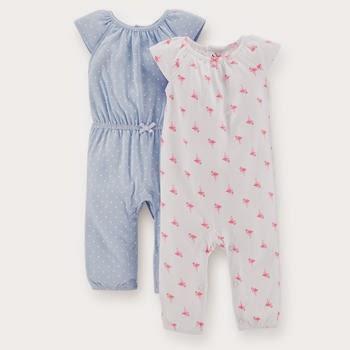 e438929a3598 Due tutine in cotone leggero ma a manica lunga che possono fungere sia da  pigiamino che per giocare quando non fa troppo caldo. Versatili!