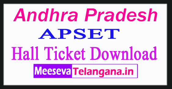 APSET Hall Ticket 2018 Download Andhra Pradesh SET Admit Card