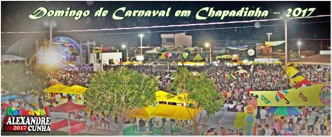 Domingo de carnaval registra milhares de foliões no corredor da folia Chapadinha