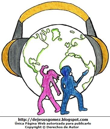 Dibujo alusivo al Día de la Juventud o Día Internacional de la Juventud para niños. Dibujo por el Día de la juventud hecho por Jesus Gómez