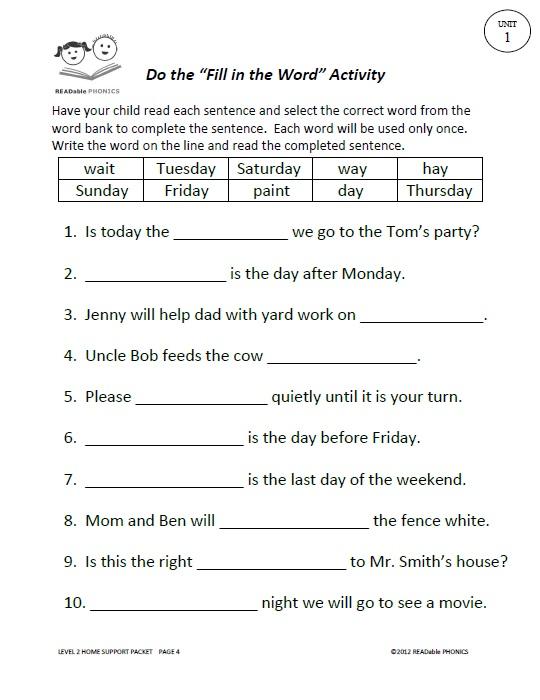READable PHONICS READable PHONICS Second Grade Language ...