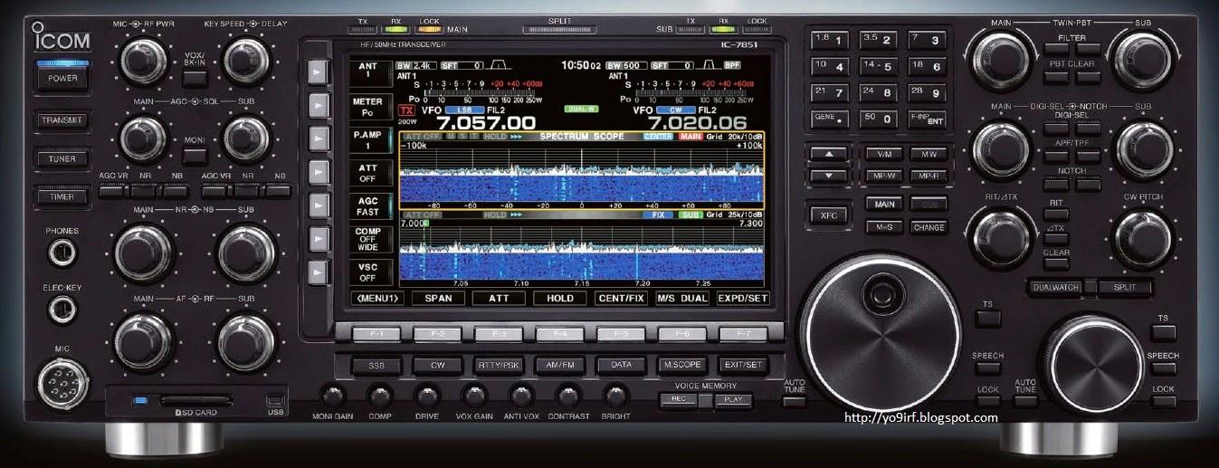 Icom's new flagship: IC-7851 | QRPblog