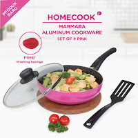 Dusdusan Homecook Marmara Aluminium Cookware Set of 4 ANDHIMIND
