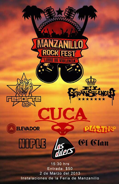 Flyer Manzanillo Rock Fest 2013