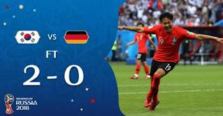 Kalah 0-2 dari Korea Selatan, Jerman Tersingkir di Piala Dunia 2018