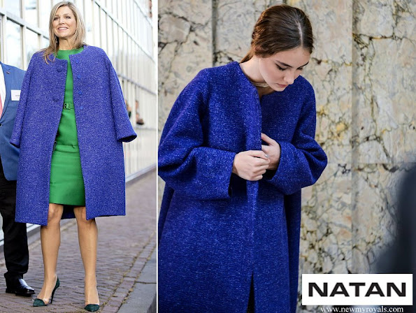 Queen Maxima wore Natan Coat Fall Winter collection