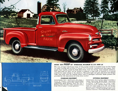 1947 -1955 Chevrolet Pickup y panel - History 1947 -1955