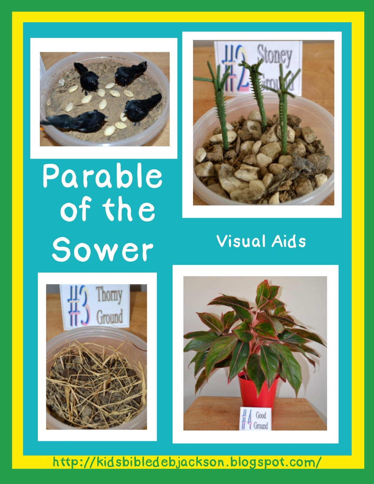 Bible Fun For Kids Parable Of The Sower
